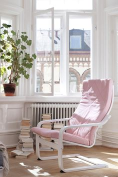 A cozy reading nook isn't complete without a POÄNG chair! What could be better than lounging in your favorite chair with a good book and the sunshine pouring through the window?