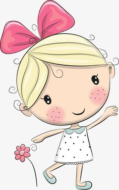 1 million+ Stunning Free Images to Use Anywhere Cartoon Cartoon, Cute Cartoon Girl, Cartoon Drawings, Art Drawings For Kids, Drawing For Kids, Easy Drawings, Art For Kids, Cute Clipart, Fabric Painting
