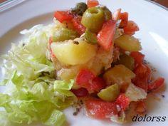 Web amb un munt de receptes//Blog de cuina de la dolorss: Ensalada de patata