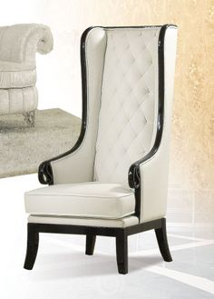 Best Pedro Black And White Accent Chair With Long Back Acme 400 x 300