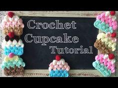 Tutorial: Cupcake a Crochet (estilo Granny) - Crochet Granny Cupcake (English Subtitles) - YouTube