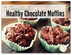 Nicole, blogger at Lunges and Lace sharing an awesome 3 ingredient — YES, 3 INGREDIENT! — chocolate muffins recipe.