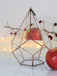 Terrarium Miedziana Łza - GlassWoodMe - Dekoracje ślubne