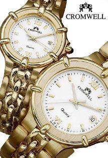 9ccd545ad1ef Relojes de oro de ley para caballero y señora analógicos con números  romanos de la firma