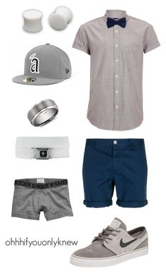 """""""Untitled #130"""" by ohhhifyouonlyknew ❤ liked on Polyvore featuring Topman, NIKE, Blue Nile, American Eagle Outfitters, nike, dyke fashion, soft butch, my creations, new era and lesbian"""
