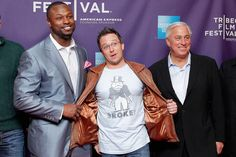 Ed Butowsky with NFL player Bart Scott, director Billy Corben photo on Imgfave.