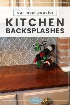 Our Most Popular Kitchen Backsplashes - We've compiled seven of our favorite kitchen backsplashes! From a rustic English kitchen to a classic traditional kitchen in gray & white, we're sure you'll find something to help inspire your kitchen renovation. Country Kitchen Designs, French Country Kitchens, English Kitchens, Rustic Home Design, Farmhouse Style Kitchen, Cocina Shabby Chic, Shabby Chic Kitchen, Handmade Tiles, Traditional Kitchen