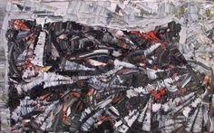 Falaises by Jean Paul Riopelle. Follow the biggest painting board on Pinterest: www.pinterest.com/atelierbeauvoir