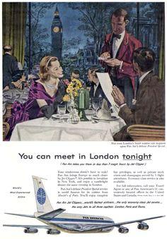 [Pan American World Airways] (Pan Am) ad, featuring Boeing 707