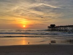 Captured the sunrise at Cocoa Beach, Florida last weekend on my iPhone.  Loved that place!