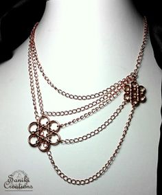 Saniki Creations sent an unique multichain Japanese 12in2 chainmaille weave necklace