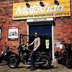 """Cole is all like """"Ya I got this"""" on his new 2017 Moto Guzzi Bobber. And we're like """"ya you do""""! Thanks for choosing and to get you rolling! Guzzi V9, Moto Guzzi, V9 Bobber, Cant Touch This, Motorcycle, Lifestyle, Motorcycles, Motorbikes, Choppers"""