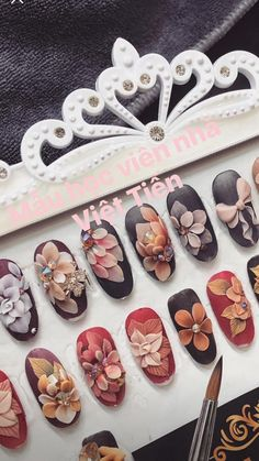 18 Cute Acrylic Nail Designs Boost Your Outstanding Look 3d Acrylic Nails, Acryl Nails, Cute Acrylic Nail Designs, 3d Nail Art, 3d Nails, Swag Nails, Nail Art Designs, Latest Nail Designs, Nails 2017