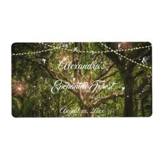 Beautiful Enchanted Forest Fairies Sweet 16 Label - labels customize diy cyo personalize
