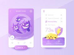 pokemon go ui design Mobile Application Design, Mobile Ui Design, Game Interface, User Interface Design, Ui Design Inspiration, Grafik Design, Business Design, Game Design, Flat Design