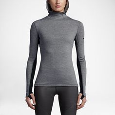 Shop Women's Nike Gray Black size L Sweatshirts & Hoodies at a discounted price at Poshmark. Nike Pro Hyperwarm Women's hoodie in size large. Style Sold by Fast delivery, full service customer support. Black Nike Sneakers, Nike Pros, Heather Black, Grey Hoodie, Nike Women, Turtle Neck, Hoodies, My Style, Black Dark