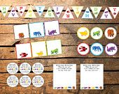 Instant Download Brown Bear Eric Carle inspired Birthday or Baby Shower Printable Party Package