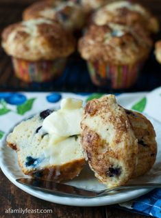 Our delicious and moist Blueberry Cream Cheese Muffins bake up tall and round with the perfect sugar muffin top!