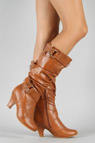 Auto-2 Buckle Slouchy Knee High Boot