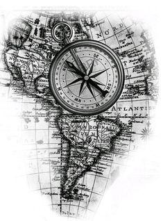 Arrow Tattoos for Men Indonesian Map Tattoos, Bild Tattoos, Love Tattoos, Body Art Tattoos, Travel Tattoos, White Tattoos, Ankle Tattoos, Nautical Compass Tattoo, Compass Tattoo Design