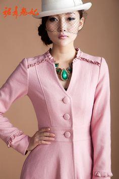 2013 winter women's woolen outerwear elegant X long design wool jacket coat maxi long trench dress plus size M L XL XXXL XXXXL-inWool & Blen...