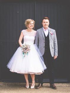 Vintage 50er Jahre Stil Brautkleider kurze