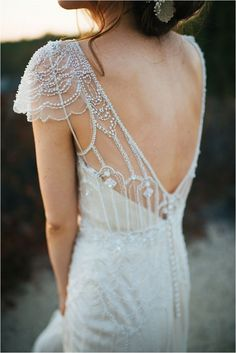 beautiful beaded back