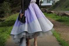 Carrie Bradshaw Inspired Skirt From the movie 'Sex and the city' Lavender/Grey Full Ball Gown Skirt