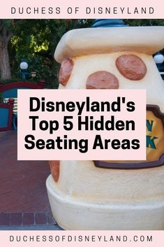 5 Hidden Seating Areas -Disneyland's Top 5 Hidden Seating Areas - Disneyland Shortcuts Check your dining receipts - some have coupons for shopping at the bottom! Disneyland Tips and Tricks Disneyland Secrets, Disneyland Food, Disney Secrets, Disney Tips, Disneyland Resort, Disney Parks, Walt Disney World, Disney Land, Disney Worlds