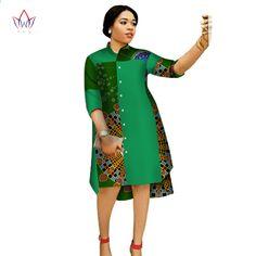 Online Shop 2017 Women Maxi Dress African Print Dresses for Women Three-Quter Sleeve Dress Women Print Clothing Plus Size BRW African Dashiki Dress, African Print Dresses, African Print Fashion, African Fashion Dresses, Africa Fashion, African Prints, African Patterns, Ankara Fashion, Ankara Dress
