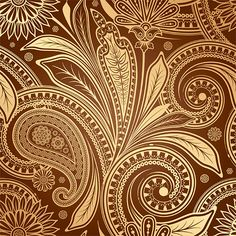 Rich Vintage Paisley Pattern Background - http://www.dawnbrushes.com/rich-vintage-paisley-pattern-background/
