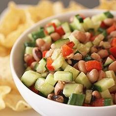 Cucumber Bean Salsa
