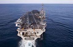 X47B on Flight Deck of the USS Truman.