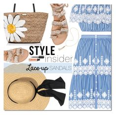 """""""Style Insider: Lace-up Sandals"""" by bibibaubau ❤ liked on Polyvore featuring Miguelina, Kate Spade, Elina Linardaki, Bobbi Brown Cosmetics, Eddie Borgo, contestentry, laceupsandals and PVStyleInsiderContest"""