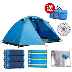 3-4 four seasons universal tents people/Two-tier outdoor waterproof and wind  sc 1 st  Pinterest & 3-4 Person Pop-up Tent Outdoor Picnic Wild Weekend Camping Beach ...