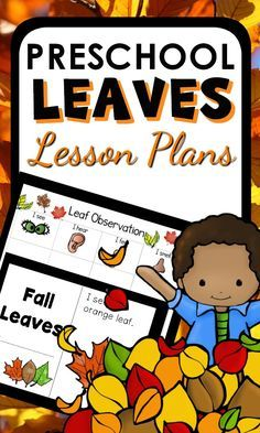 Fall Leaf Theme Activities for Preschool with printable lesson plans, hands-on activities, center ideas and Fall Preschool, Preschool Themes, Preschool Classroom, Classroom Ideas, Daycare Themes, Classroom Teacher, Science Activities For Kids, Hands On Activities, Sensory Activities