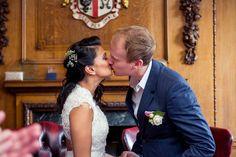 first kiss wedding Islington Town Hall First Kiss Wedding, Bermondsey Street, Start The Day, Town Hall, Hot Days, Her Hair, Brown Hair, Wedding Dresses, Brown Scene Hair