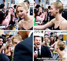 Michael Fassbender fangirling over Jennifer Lawrence