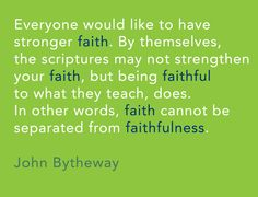 11 Life-Changing Quotes from John Bytheway Everyone would like to have stronger faith. By themselves, the scriptures may not strengthen your faith, but being faithful to what they teach, … Uplifting Thoughts, Spiritual Thoughts, Inspirational Thoughts, Spiritual Quotes, Peace Quotes, Uplifting Quotes, Lds Quotes, Book Quotes, Great Quotes