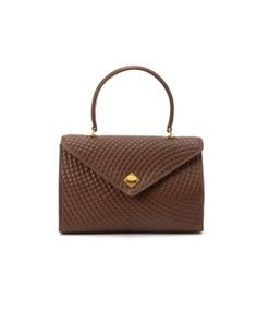 Bally Pre-Owned: brown quilted leather top handle bag