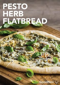 Serve the flavorful taste of Pesto Herb Flatbread to your guests at your next dinner party! Featuring Buitoni® Refrigerated Reduced Fat Pesto with Basil and Buitoni® Refrigerated Freshly Shredded Parmesan Cheese, you'll have a quick, easy and delicious appetizer ready in less than 15 minutes.