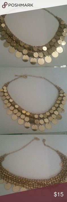 Full statement necklance Gold tone statement necklance  (not real gold) Gorgeous completes any outfit, not any pieces missing Accessories