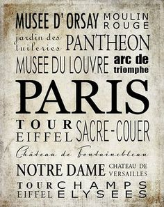 Reprinted this would make a great framed piece for the wall for your Francaise decor.