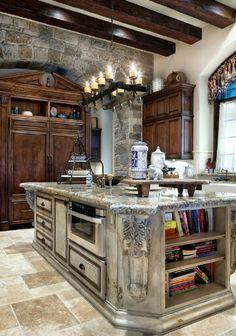 Kitchen Luxury Kitchens, Old World Kitchens, Dream Kitchens, Home Kitchens, Kitchen Upgrades, Kitchen Ideas, Kitchen Decor, Kitchen Designs, Architecture Interiors