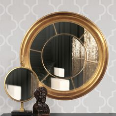 Howard Elliott Sol Gold Mirror 43134