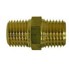 28816 | Midland | 1/4 BSPT X 1/4 MIP HEX NIPPLE | Brass Fittings | BSPT/ BSPP Fittings | Male BSPT x Male NPT Nipple