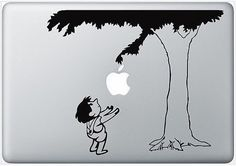 The giving tree MacBook decal