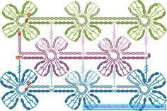 This is the diagram for the floral scarf