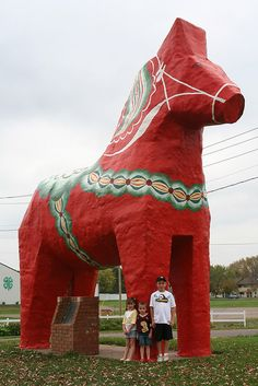 World's Largest Dala Horse:  Mora, Minnesota My dad carved small ones for each of my kids.