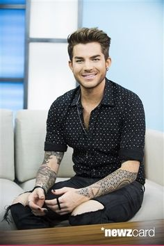 "Singer Adam Lambert seen on Global's ""The Morning Show"" on Monday, June 22, 2015, in Toronto, Canada. (Photo by Arthur Mola/Invision/AP)"